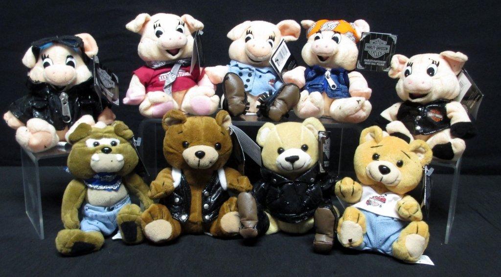 Harley Davidson Bean Bag Animals