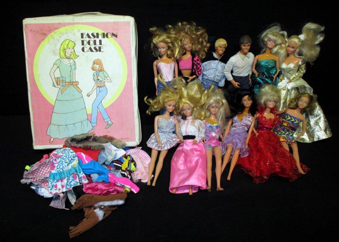 12 Barbie Dolls Plus Lot