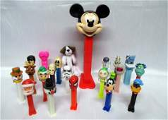 20 Collectible PEZ Dispensers