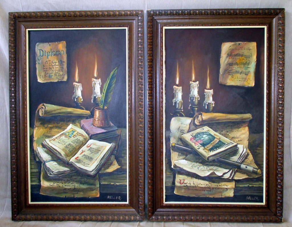 Two Oil on Canvas Paintings
