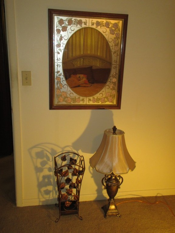 Umbrella Stand, Lamp & Mirror