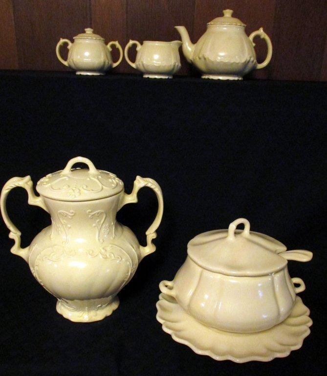 11 White Ceramic Serving Pieces