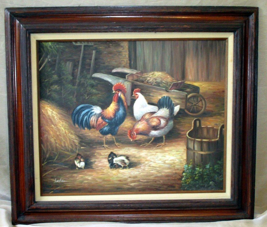 Oil on Canvas - Barnyard