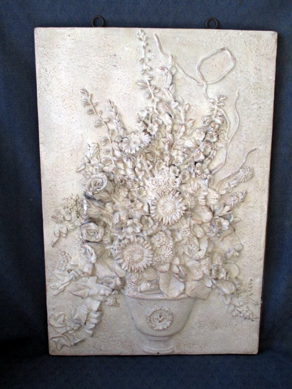 High Relief Floral Wall Art