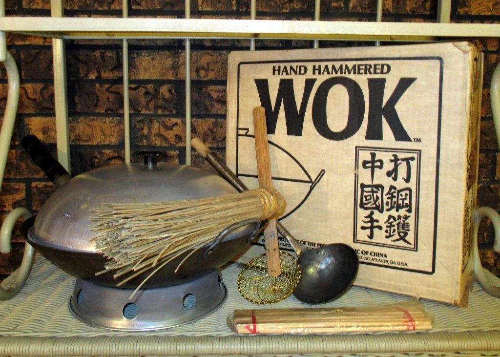 Hand Hammered Wok from China