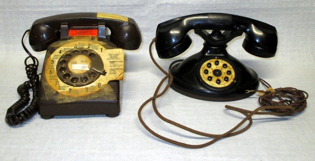 Two Vintage Telephones