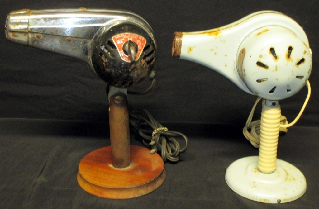 2 Vintage Hair Dryers - 2