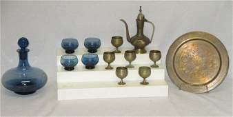 Brass  Glass CoffeeLiquor Sets