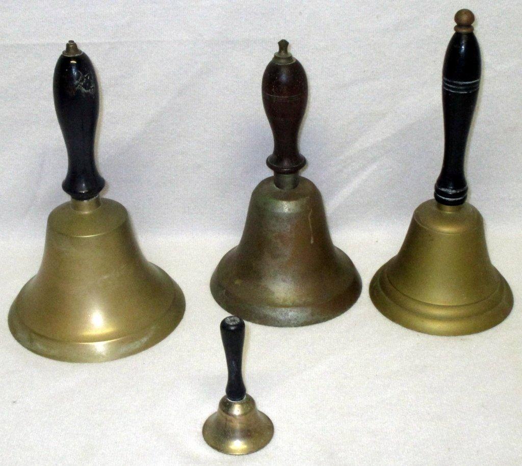 4 Brass School Bells