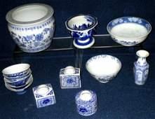 Blue  White Oriental Ceramics