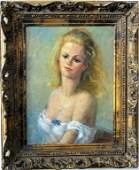 Lucile Mustin Peters Ornately Framed Portrait