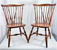 Pair Windsor Ethan Allen Side Chairs