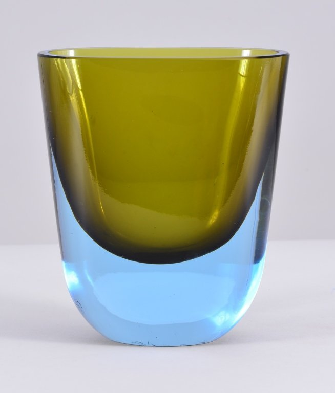 Two Tone Art Glass Vase