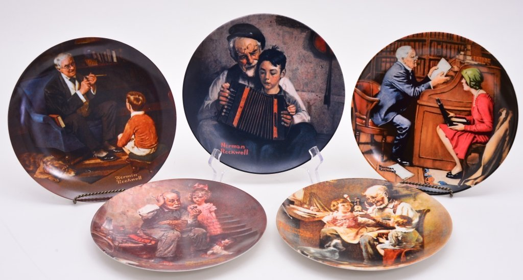 5 Norman Rockwell Heritage Collection Plates