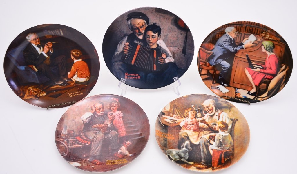 5 Norman Rockwell Heritage Collection Plates - 2