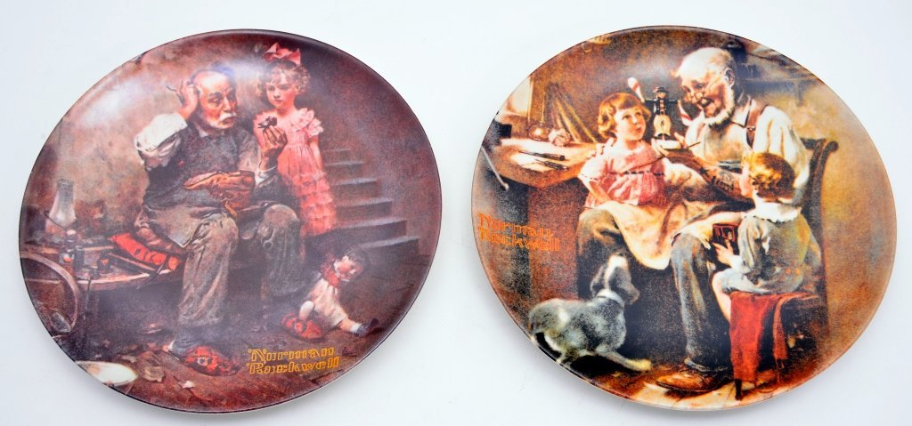 5 Norman Rockwell Heritage Collection Plates - 3