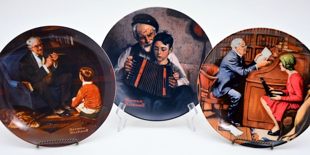 5 Norman Rockwell Heritage Collection Plates - 4