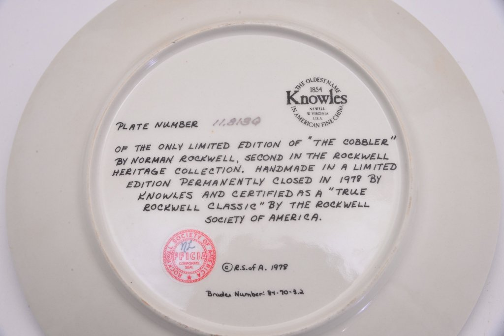 5 Norman Rockwell Heritage Collection Plates - 5
