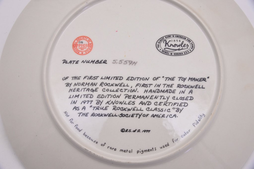 5 Norman Rockwell Heritage Collection Plates - 6