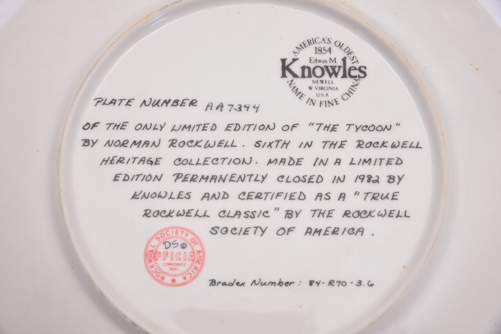 5 Norman Rockwell Heritage Collection Plates - 7