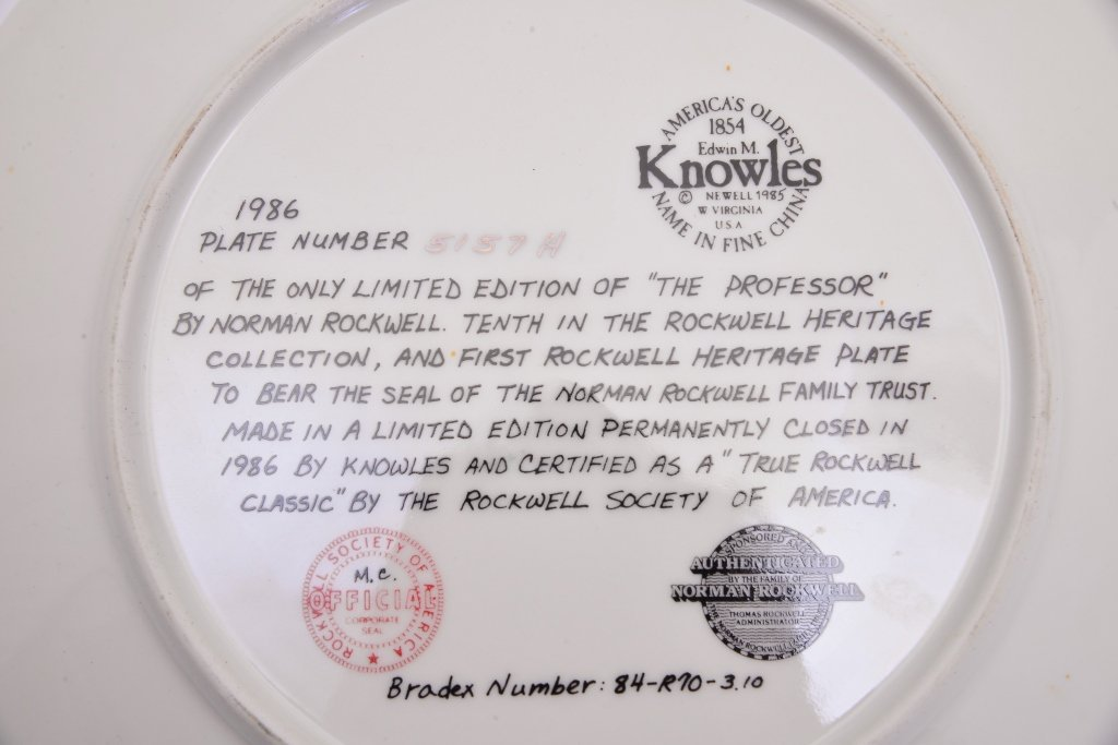 5 Norman Rockwell Heritage Collection Plates - 8