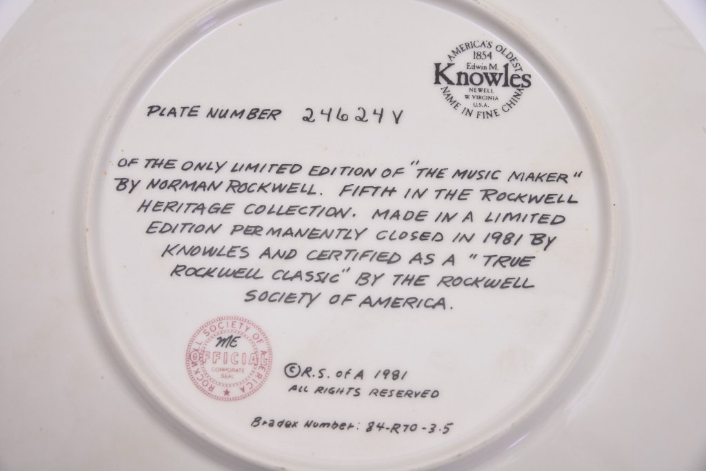 5 Norman Rockwell Heritage Collection Plates - 9