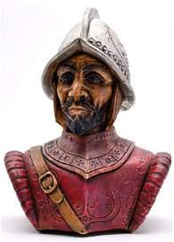 Conquistador Ceramic Bust