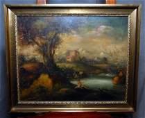 Italian Countryside Oil on Canvas