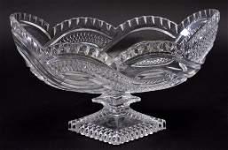 Pressed Glass Pedestal