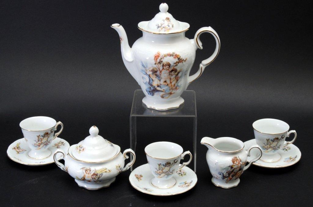 Trisa Porcelain Cherub Tea Set