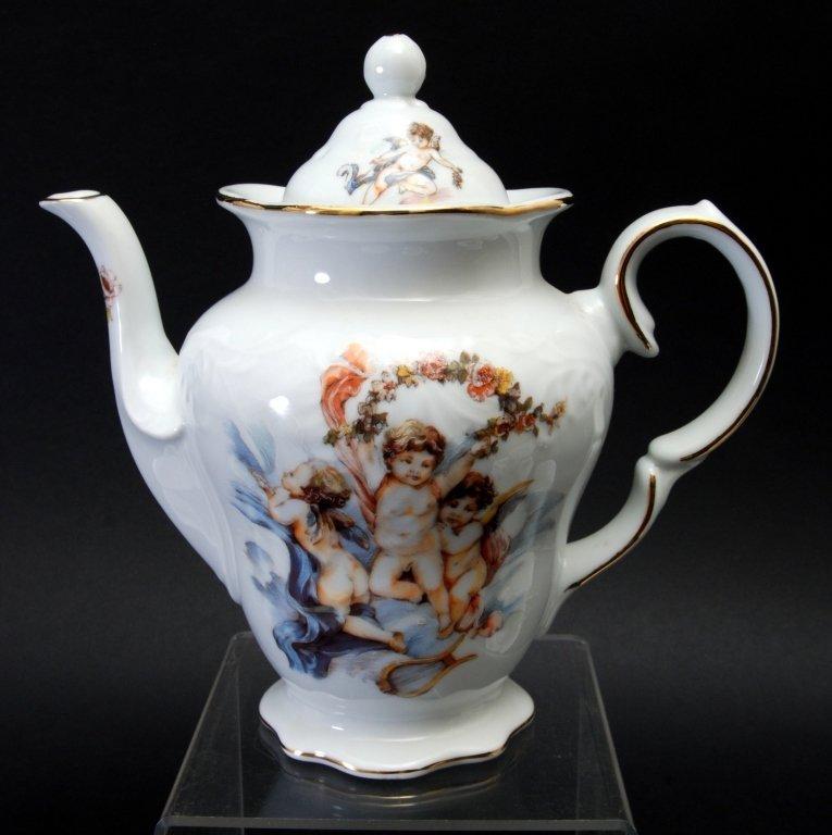 Trisa Porcelain Cherub Tea Set - 2