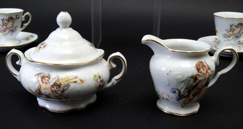 Trisa Porcelain Cherub Tea Set - 3