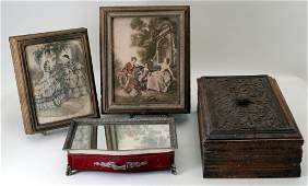 Antique  Vintage Dresser Boxes