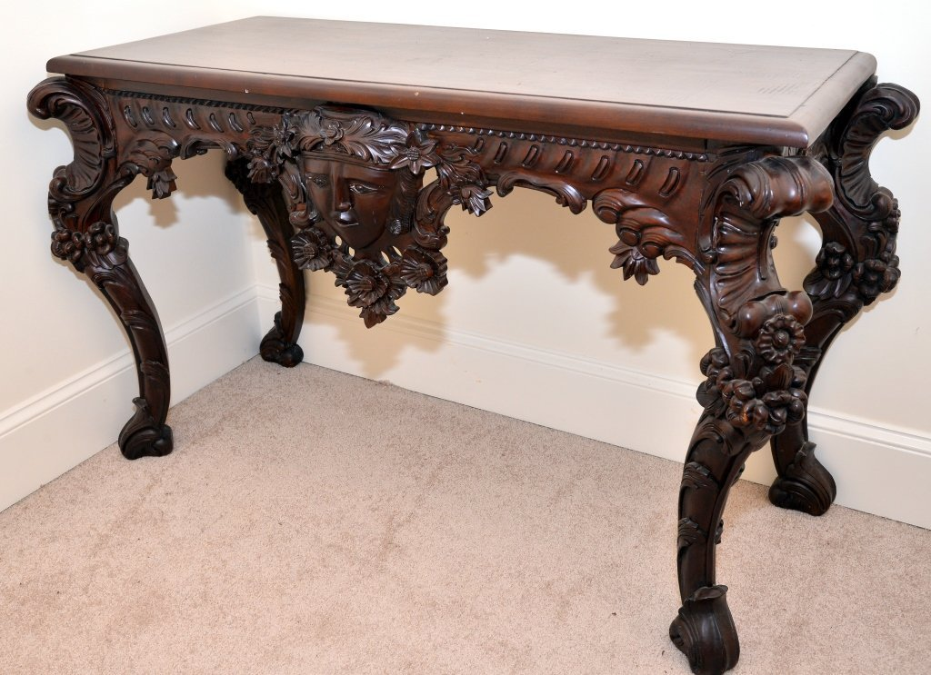 Carved Entry Table