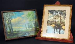 Wallace Nutting A Sheltered Brook Print Plus