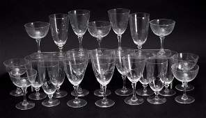 23 Pieces of Cut & Etched Crystal Stemware