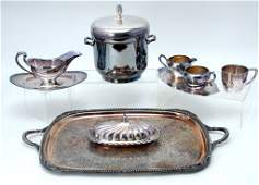 6 Silverplated Servicing Pieces  One Cup
