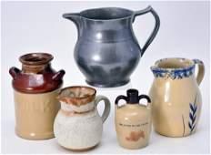 Pewter & Stoneware Lot