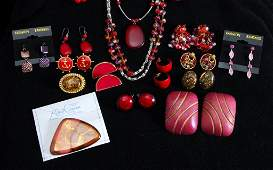 Red Gold  Silver Costume Jewelry