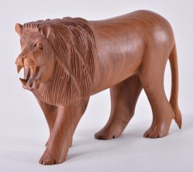 Hand Carved Lion From Kenya