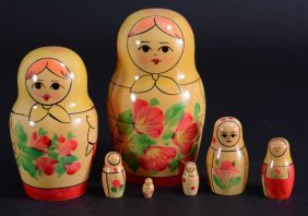 Seven Nesting Russian Dolls