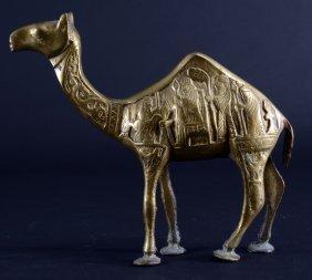 Vintage Brass Camel From Tehran