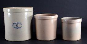 Trio Stoneware Crocks One From Marshall Pottery
