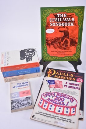 Vintage Civil War Novels & Music Books,