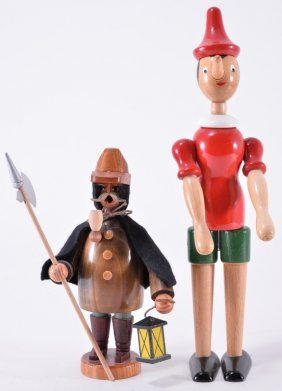 Vintage German Wooden Figures