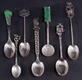 7 Sterling Souvenir Spoons