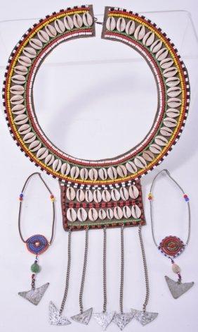 Vintage African Collar & Earrings
