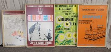 Quartet Framed Malaysian Musical Posters
