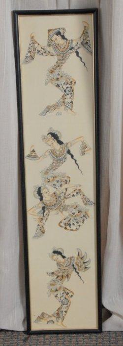 Vietnamese Dancers Artwork Under Glass