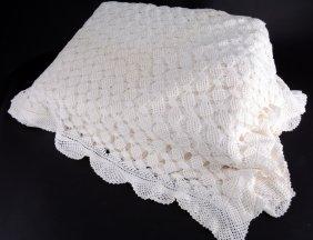 White Crocheted Coverlet